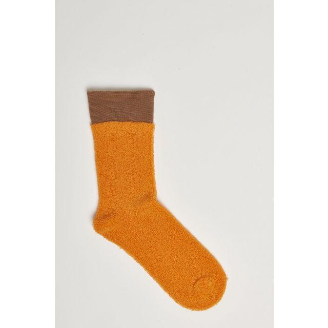 calze effetto spugna arancione