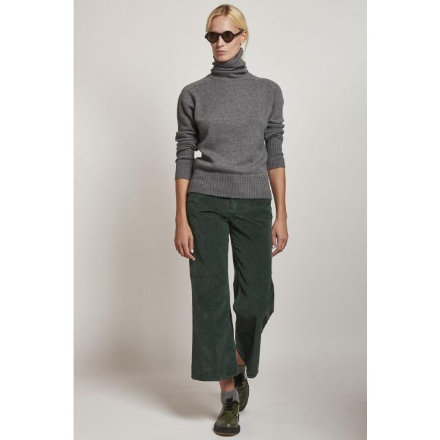 5-pocket corduroy green corduroy trousers