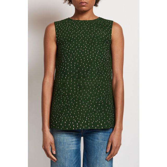 silk top with embrodery