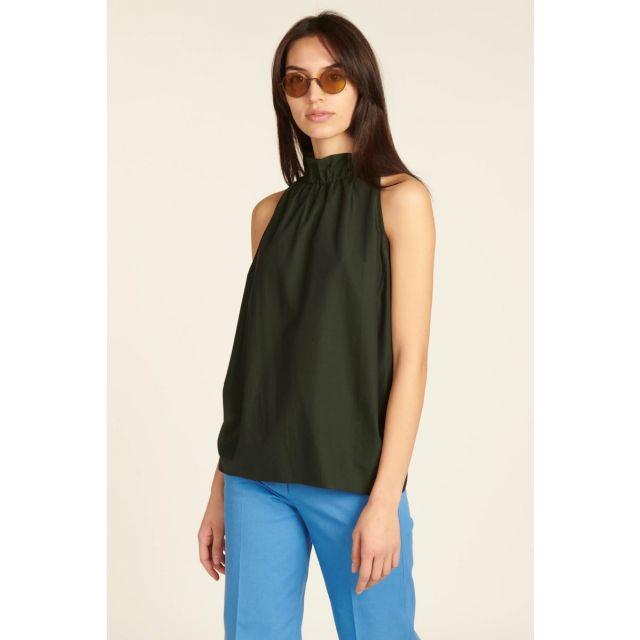 Green cotton top