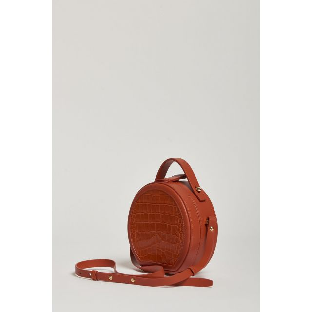borsa rotonda arancio