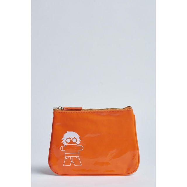 pochette milaura arancio fluo