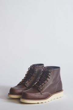 Lace-up boots in dark brown leather