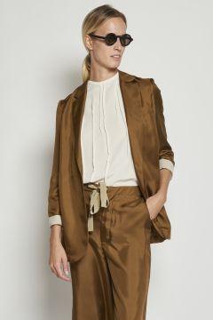 Brown silk jacket