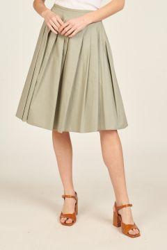 Pleated Sage Skirt