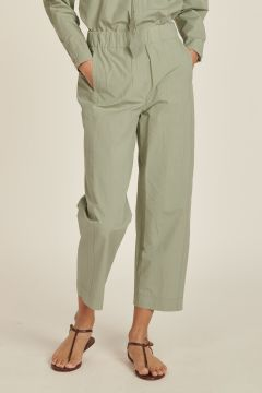 Poplin Trousers with Elastic