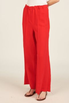 Pantaloni di lino rossi
