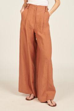 Oversized linen trousers