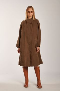 Flora brown trench coat