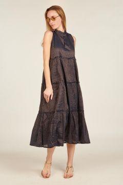 Isadora lurex midi dress