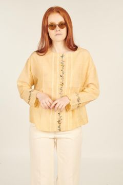 Yellow Bellium long-sleeved shirt