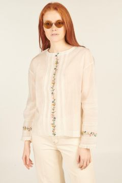 White Bellium long-sleeved shirt