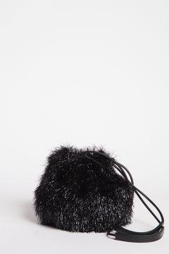 Secchiello piccolo lurex nero
