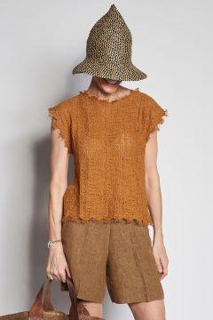 Camicia arricciata bruciata
