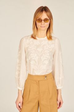 Embroidered Maryana white shirt
