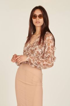 Zanita floral shirt