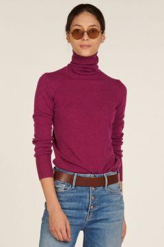 Purple cashmere turtleneck
