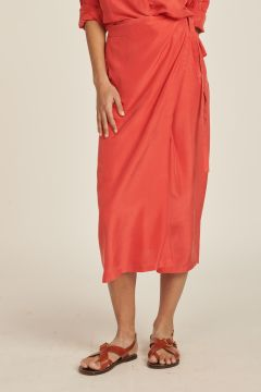 Wrap Silk Parco Skirt
