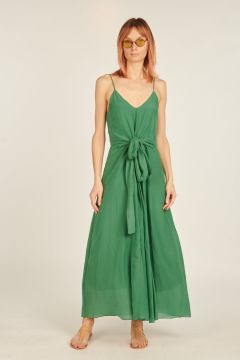 Long dress with bow