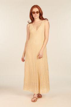 Long Ivory Lace Dress