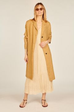 Linen dust coat