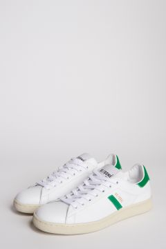 White and green leather sneakers