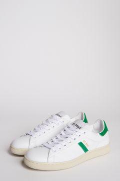 Sneakers in pelle bianche e verdi