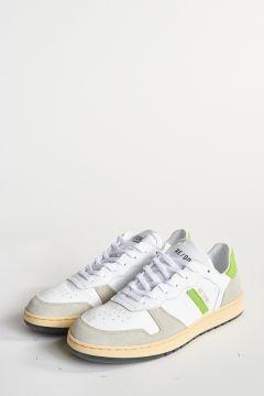 Scarpe in pelle con dettaglio verde