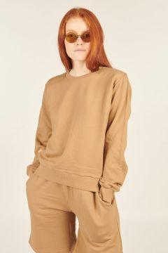 Camel Gina crew neck sweatshirt