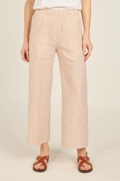 Beige and white striped Penny Pants