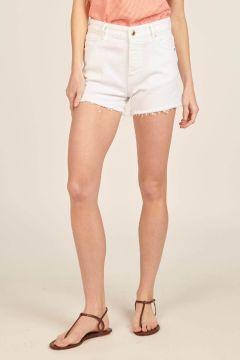 White Fringed Lara Shorts