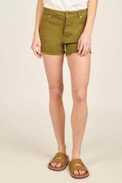 Green Fringed Lara Shorts