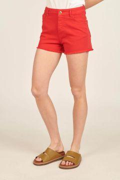 Red Fringed Lara Shorts