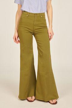 Pantaloni Anna in denim a zampa verdi