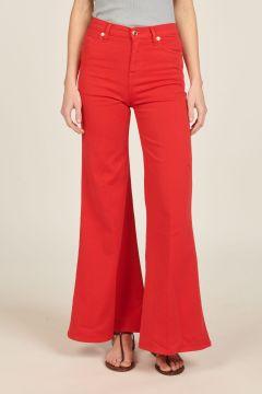 Red Anna denim trousers