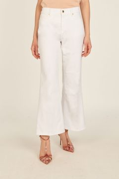 White India cropped pants