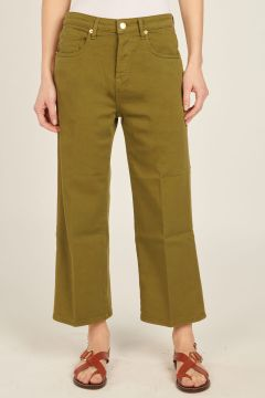Military Green Zaira denim trousers