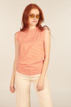 Orange and White Striped Gertrude sleeveless top