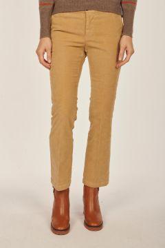 Linda beige velvet trousers
