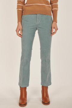 Linda light blue velvet trousers