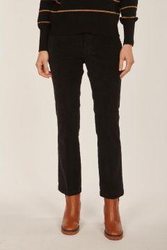 Linda black velvet trousers