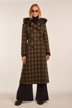 Hooded Abete trench