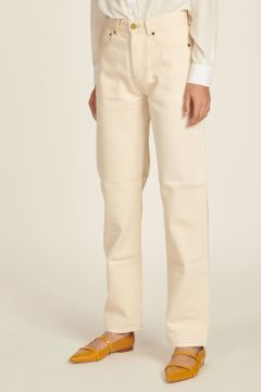 Long ivory jeans