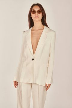 White tailored jacket