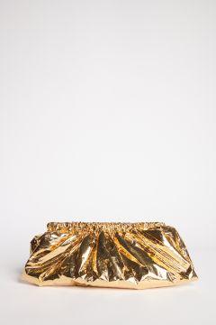 Clutch metallizzata oro