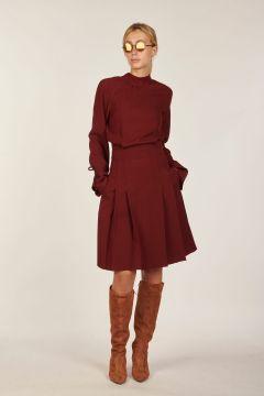 Midi dress burgundy
