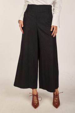 Pantalone largo gessato