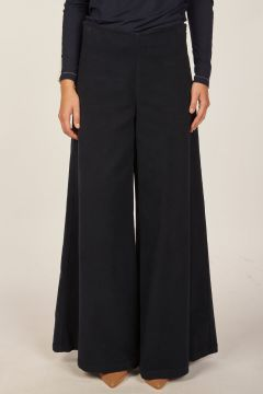 Blue wide trousers