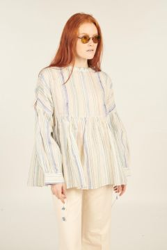 Striped Ash long-sleeved shirt