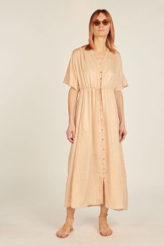 Long dress with coulisse